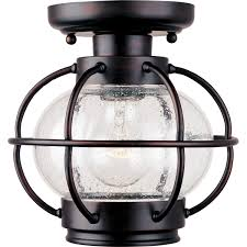Bronze Semi Flush Ceiling Light by Maxim Lighting International Portsmouth Outdoor Semi Flush Ceiling