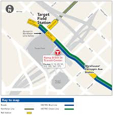Chicago Train Station Map by Target Field Station Northstar Metro Transit