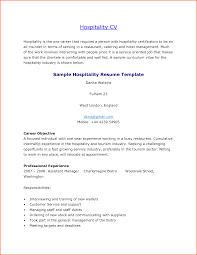 Sample Resume Hospitality by Hospitality Resume Sample Resume For Your Job Application