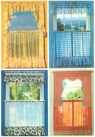 Cafe Curtain Pattern Cafe Curtain Sewing Pattern Vintage Window Topper Valance Swag 40
