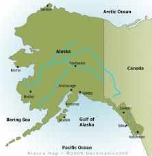map of alaska cities alaska map alaska state map