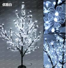 height outdoor artificial tree led cherry large trees with lights