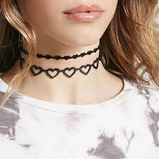 love heart choker necklace images X158 new black leather love heart choker necklaces 2017 fashion jpg