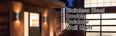 outdoor double wall light stainless steel double outdoor wall light ip65 up down outdoor