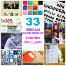 33 general conference activities for children diapers and divinity