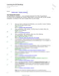 Secretary Cv Example Esri Mod6 Exam Pdf Environment And Natural Resources 531 With