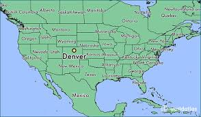 on a map where is denver co where is denver co located in the world