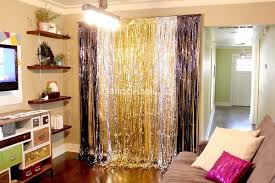 Silver Foil Curtains Cheap Silver Metallic Foil Fringe Shimmer Curtain Backdrop For