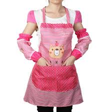 design women kitchen restaurant cooking aprons with pocket gift