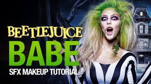 beetlejuice halloween makeup tutorial youtube