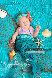 Newborn Infant Halloween Costumes Newborn Baby Mermaid Photo Prop Costume 0 3 Month