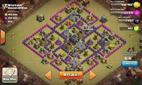 big clash of clans base aki s base review and weakness guide th8s th9s razeinfinity