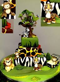 animal jungle safari theme kids birthday party cakes and cupcakes