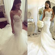 mermaid wedding dresses mermaid wedding dress 2017 white tulle beaded lace pearls