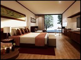 master bedroom decorating ideas in blue patterned wallpaper