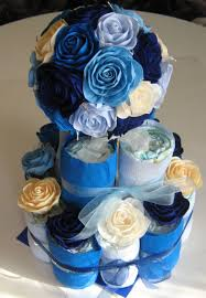 baby diaper cakes royal blue diaper cakes baby shower idea