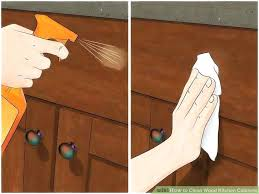 how to clean greasy wooden kitchen cabinets how to clean greasy kitchen cabinets image titled clean wood kitchen