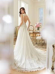 a line wedding dress with keyhole back
