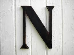 shabby chic wooden letters 12 serif n black kids wall