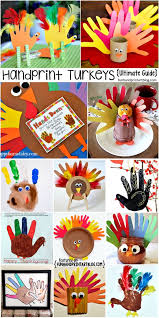 ultimate guide to turkeys made with handprints thanksgiving craft