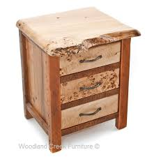 barn wood nightstand with burl wood reclaimed end table