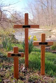 memorial crosses for roadside woods up design custom engraved grave crosses