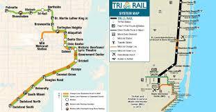 Metrorail Map Metro Miami Karte Metro Karte Miami Florida Usa