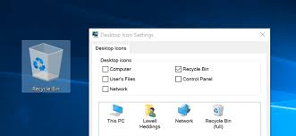 hide delete recycle bin icon windows 7 8 10
