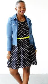 dress and denim jacket 6
