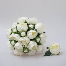 Groomsmen Boutonnieres White Peony Bridal Bouquet Bridesmaid Bouquets Groom And