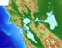 san francisco delta map san francisco bay and sacramento san joaquin delta dem