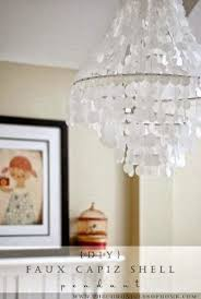 diy shell chandelier 10 fabulous diy light fixtures my of style my of style