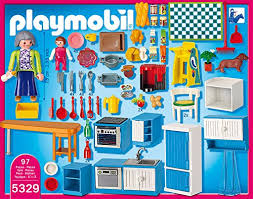 cuisine playmobil 5329 amazon com playmobil grand kitchen toys
