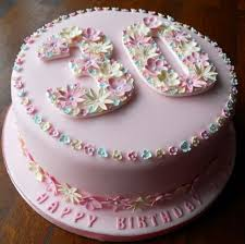 birthday flower cake 30th birthday cakes decoration ideas birthday cakes