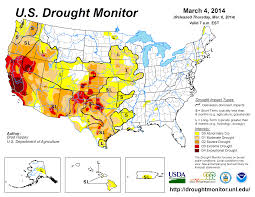 Map Of Usa For Kids by Drought February 2014 State Of The Climate National Centers
