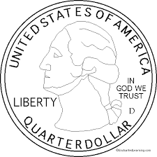 coloring pages quarter us state quarter obverse enchanted learning