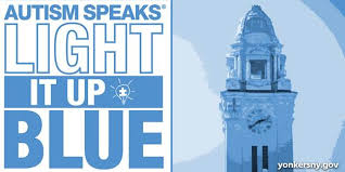 autism speaks light it up blue yonkers city hall clock tower to be lit in blue in recognition of