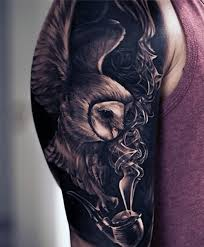 Owl Shoulder - 70 owl tattoos for creature of the designs