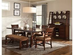 dining room newest dining room bench made of leather seat and