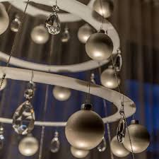 modern pearl tree with matte silver ornaments by modern christmas