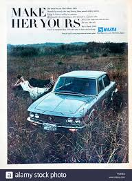 the mazda 1960s magazine advertisement advertising the mazda 1500 car stock