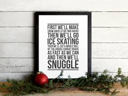 elf movie quote poster christmas to do list vintage modern