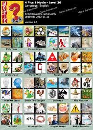 4 pics 1 movie level 36 game solver
