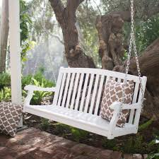 white wooden porch swing arkdg cnxconsortium org outdoor furniture