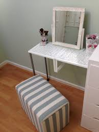 turn variera shelf inserts into a gorgeous dressing table ikea