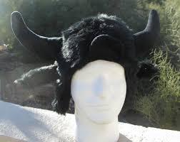 buffalo hat horns fur moose furry bison decoy antlers animal