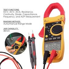 digital ac current clamp meter multimeter capacitance ohm