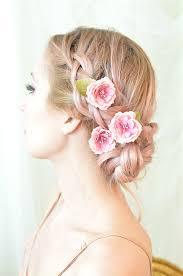 hair flowers hair pins pink flower whimsical floral clip