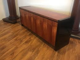 Koa Laminate Flooring Henredon Koa Wood U0026 Black Lacquer Credenza 2995 Modern To Vintage