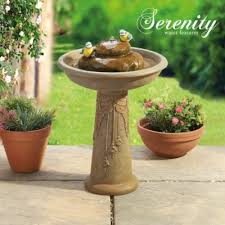 ornamental water feature bird bath clifford